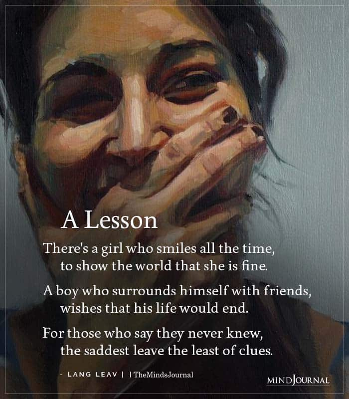 There girl who smiles all the time