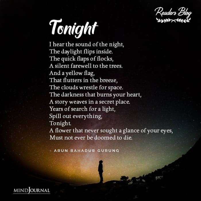 Tonight I hear the sound of the night