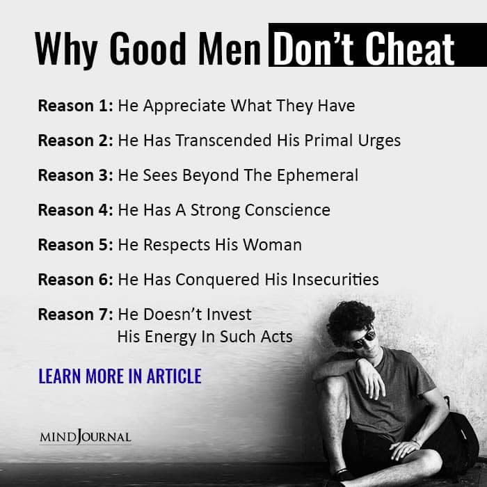 7 Reasons Why Good Men Don't Cheat On Their Partners