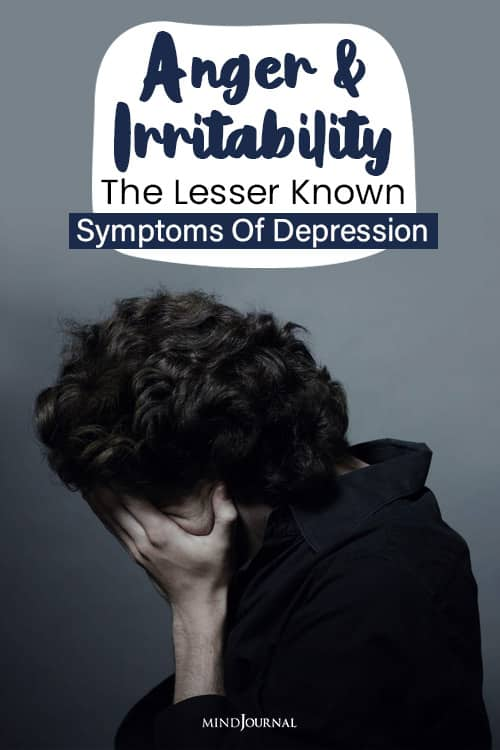 anger and irritability depression pin