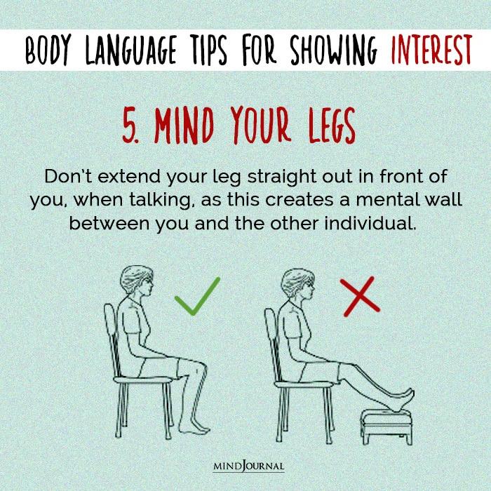 body language mind your legs