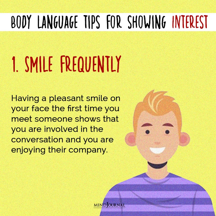 body language smile frequently
