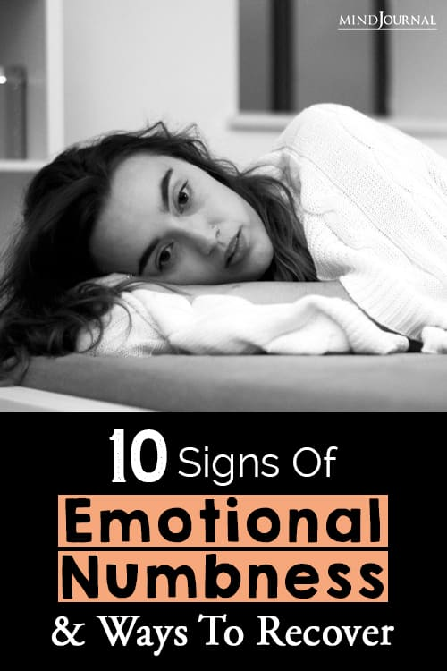 emotional numbness and ways to pinop