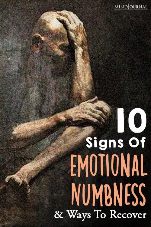 emotional numbness pin