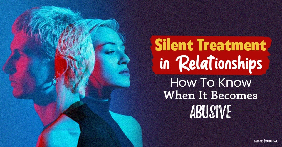 silent treatment in relationships