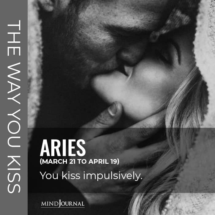 The Way You Kiss Based on Your Zodiac Sign