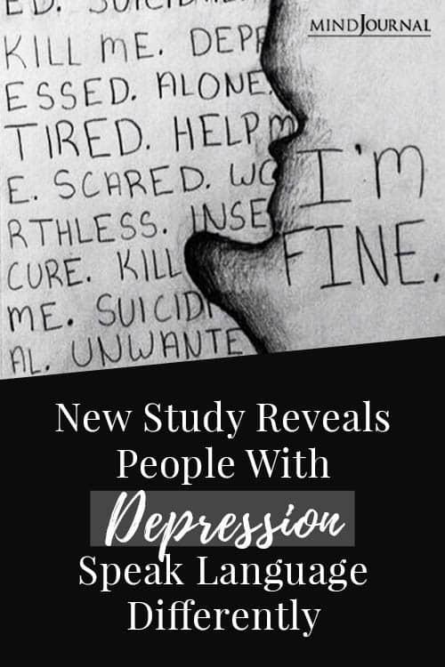 Depression Speak Language Differently Pin