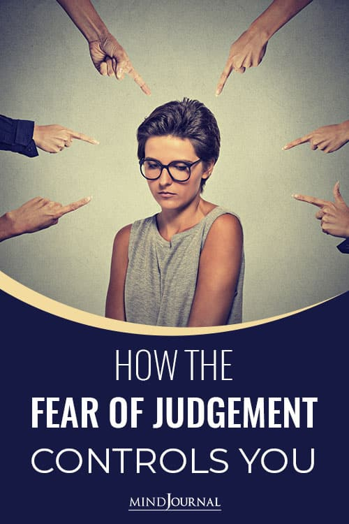 Fear of Judgement Controls You pin