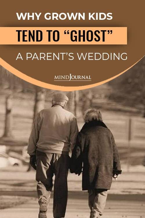 Grown Kids Ghost Parents Wedding pin