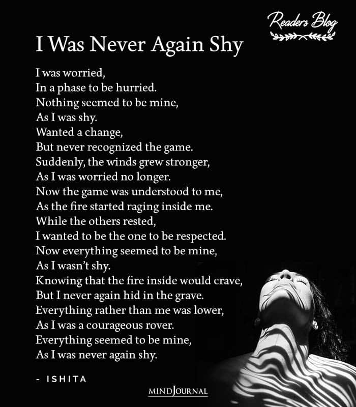 I Was Never Again Shy