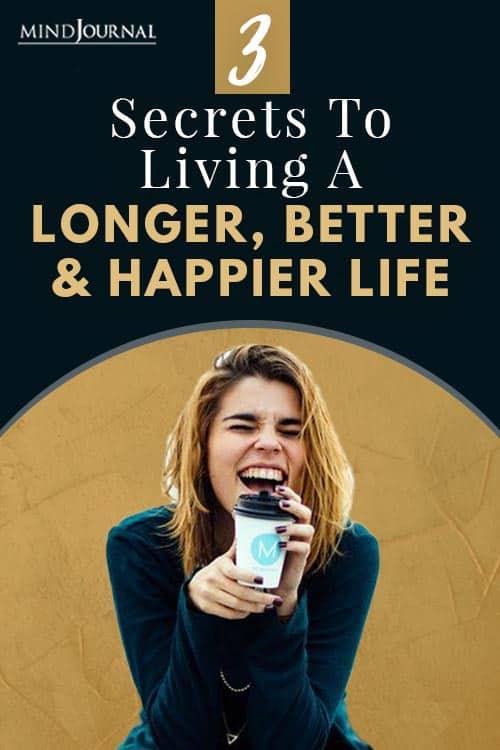 Secrets Living Happier Life Pin