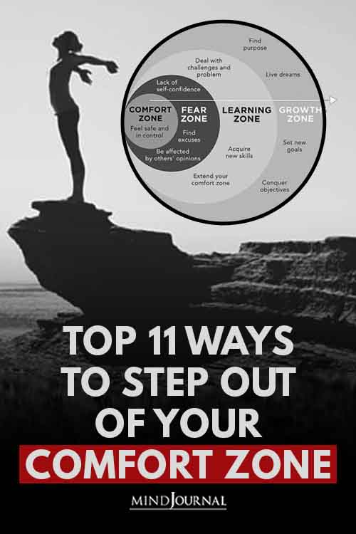 Ways Step Out of Comfort Zone Pin