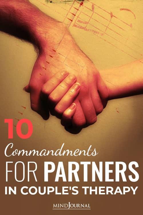 Commandments for Partners pin