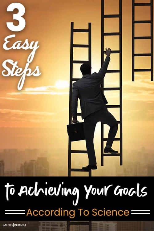 Easy Steps Achieving Your Goals pin