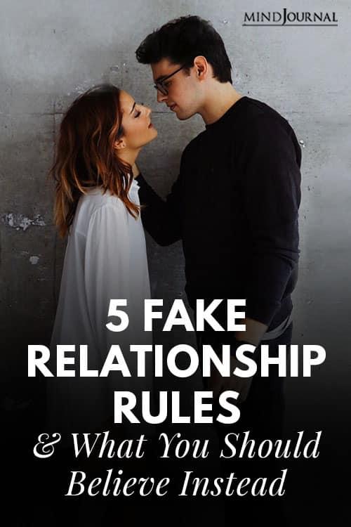 Fake Relationship Rules Pin