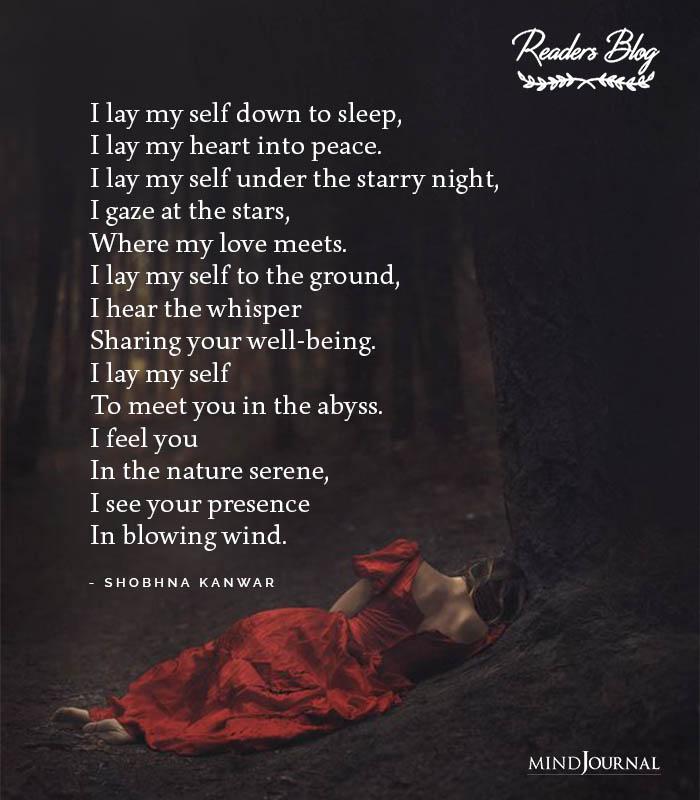 I Lay My Self Down To Sleep
