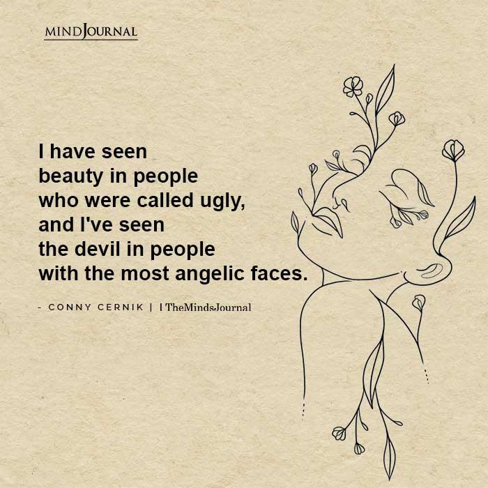 seen beauty in people