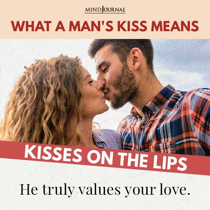 Kisses on the lips