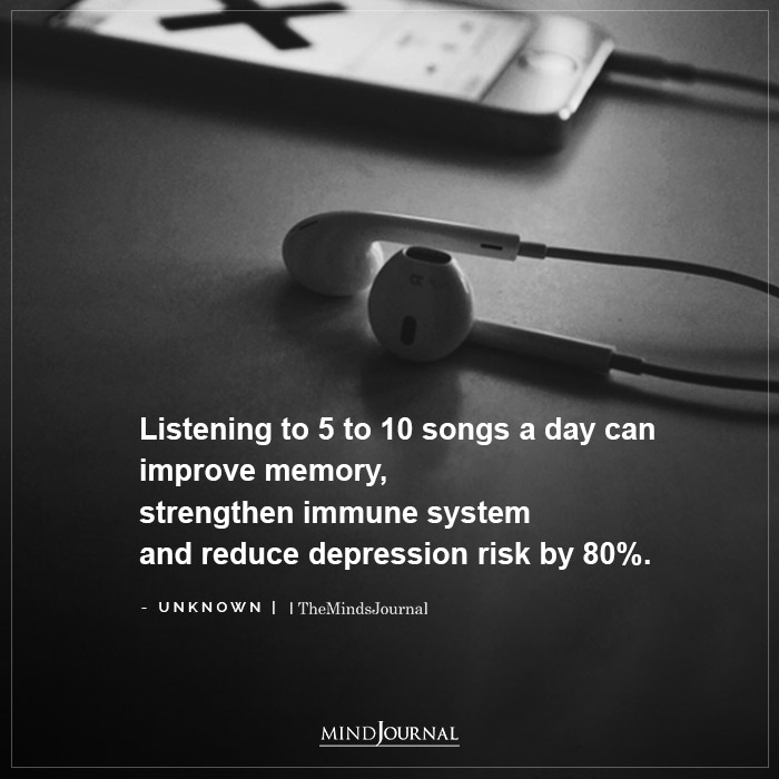 Listening to 5 to 10 songs a day can improve memory