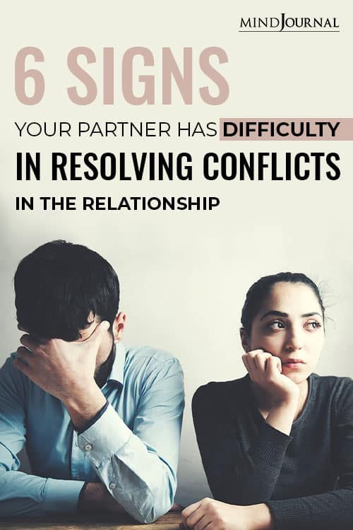 Signs Partner Difficulty Resolving Conflicts pin