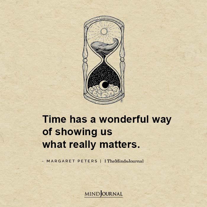 Time has a wonderful way