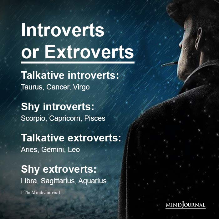 Zodiac Signs As Types of Introverts And Extroverts