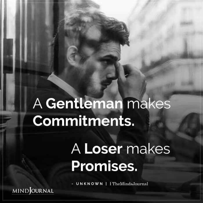A Gentleman Makes Commitments