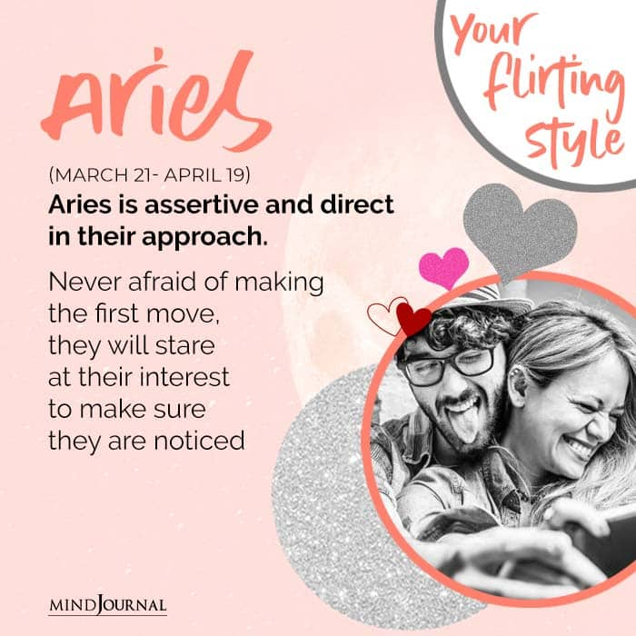 Aries is assertive and direct