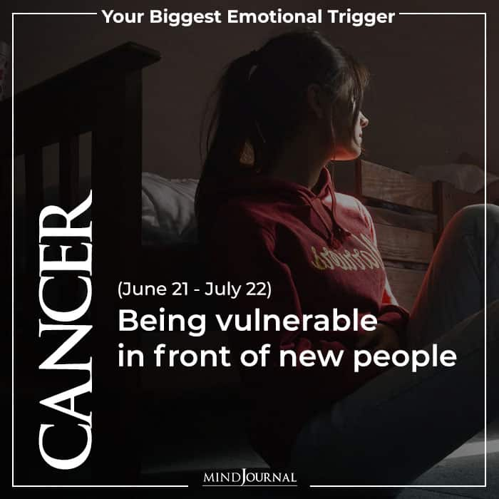 Cancer Being vulnerable in front new people