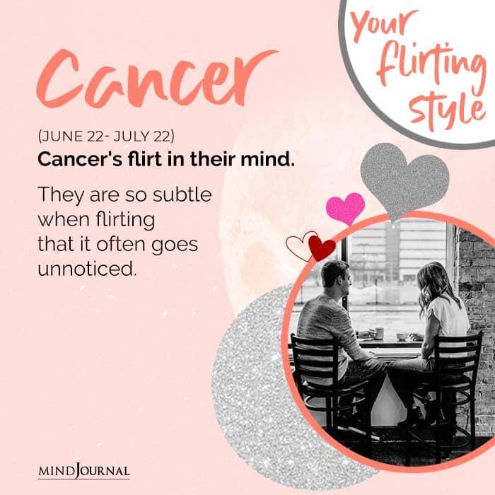 Cancers flirt in their mind