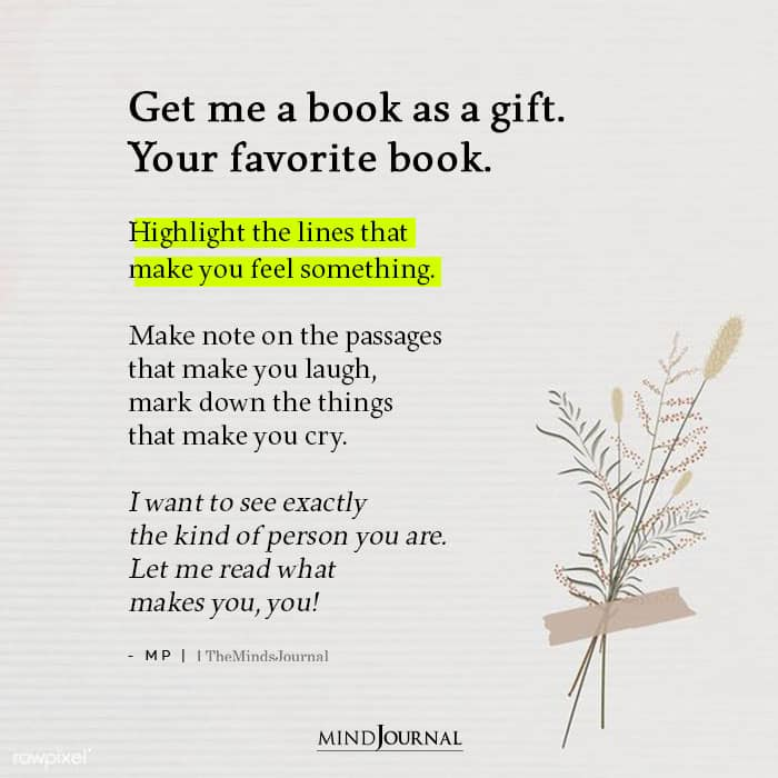 Get Me A Book As A Gift Your Favorite Book
