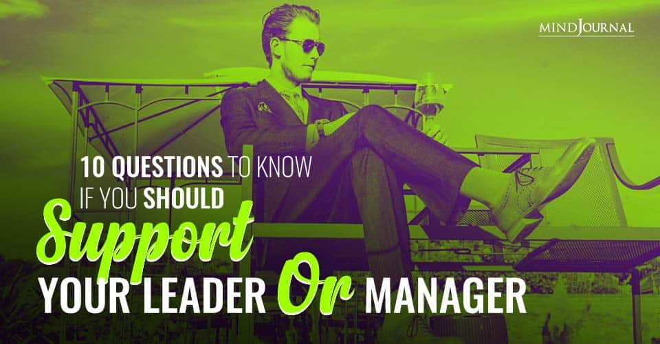Questions Know Should Support Leader Manager