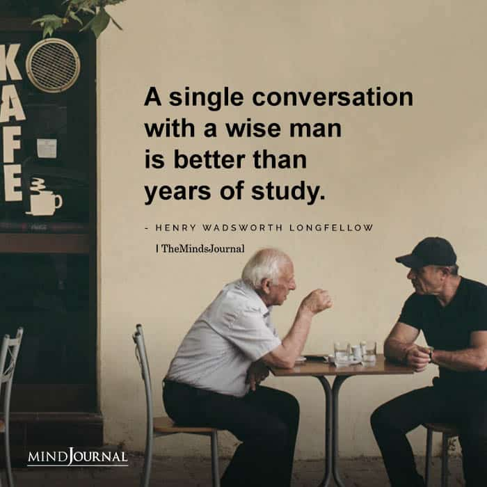 Single Conversation With Wise Man