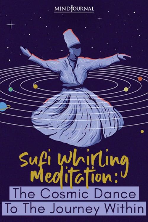 Sufi Whirling Meditation Cosmic Dance Journey Pin