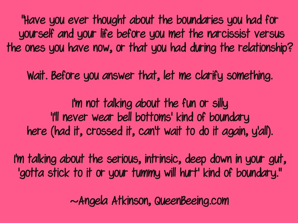 Boundaries with a narcissist