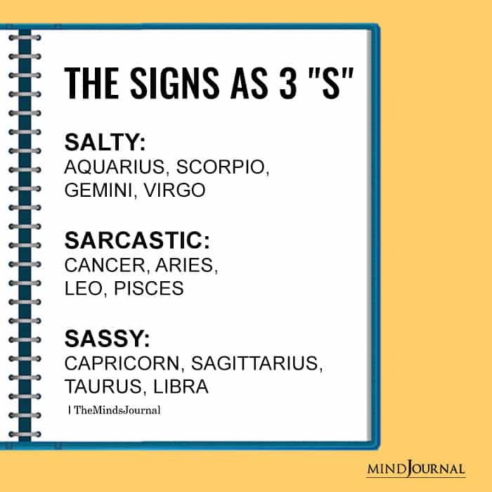 Signs as The 3 S