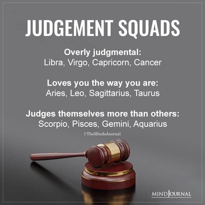Zodiac Signs Judgement Squads