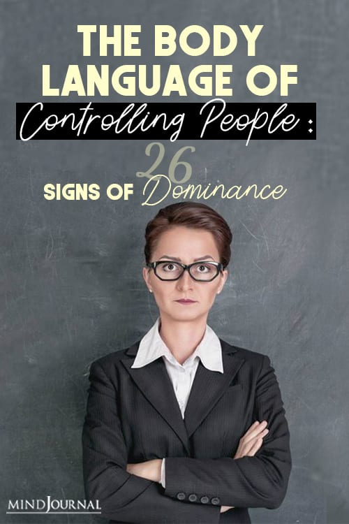 body language controlling people signs dominance infographic pin