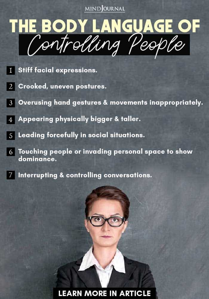 body language controlling people signs dominance infographic