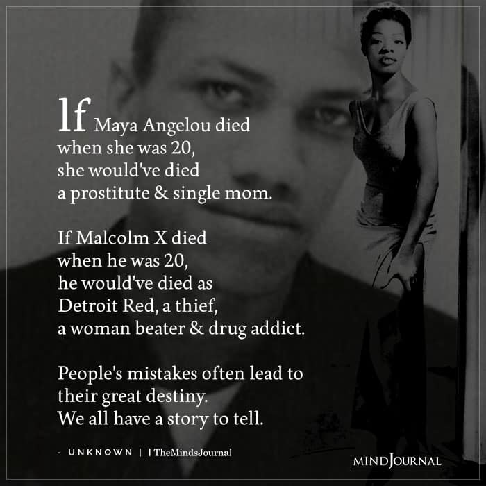 Maya Angelou And Malcolm X Died At 20