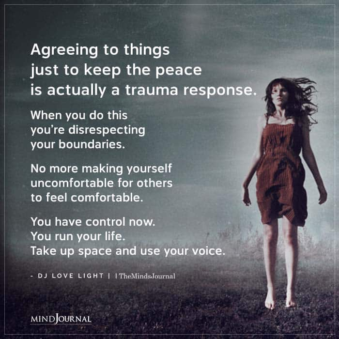 Agreeing To Things Just To Keep The Peace