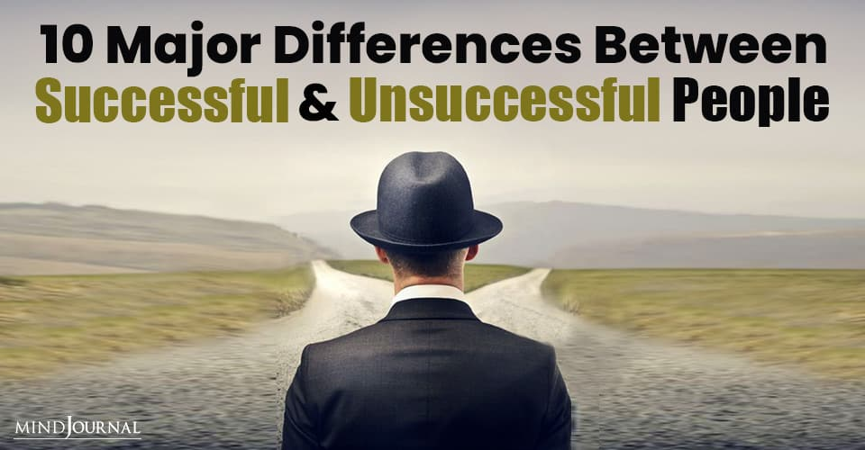 Differences Successful Unsuccessful People