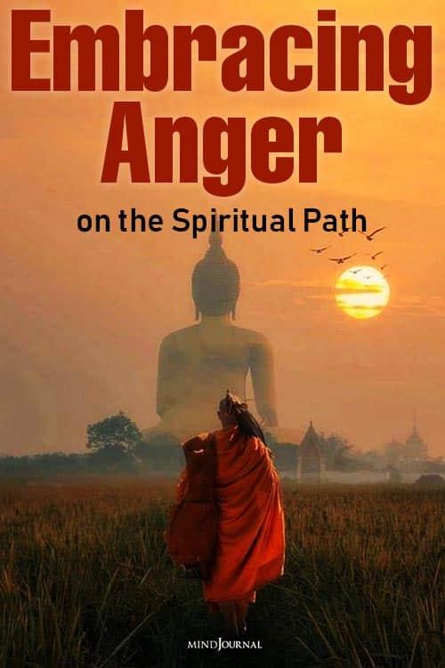 Embracing Anger on Spiritual Path pin