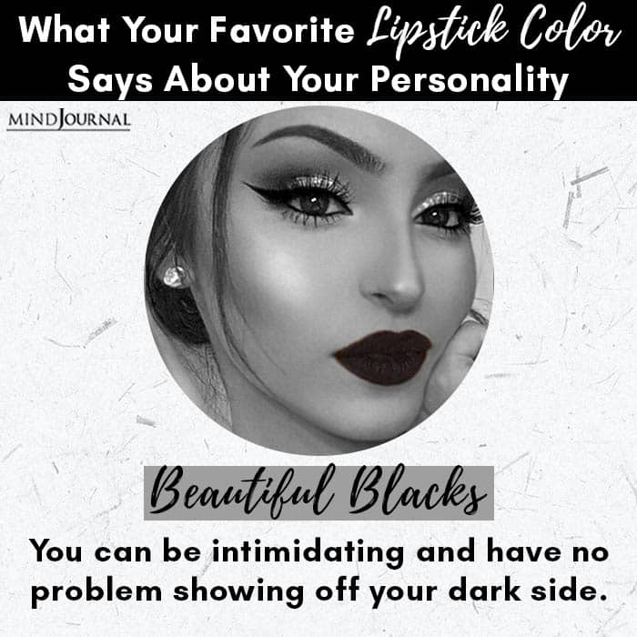 Favorite Lipstick Color Says About Personality beautiful blacks