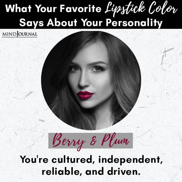 Favorite Lipstick Color Says About Personality berry
