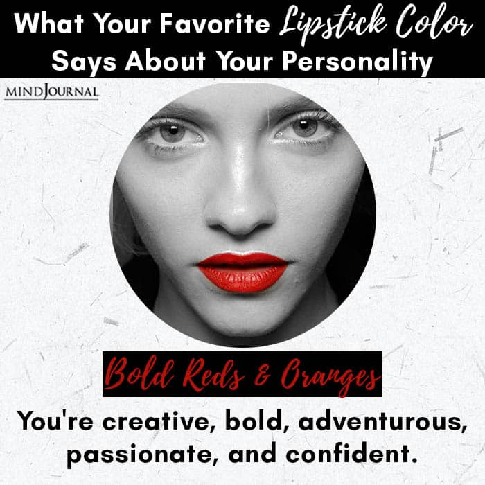 Favorite Lipstick Color Says About Personality bold