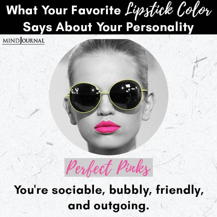 Favorite Lipstick Color Says About Personality perfect pinks