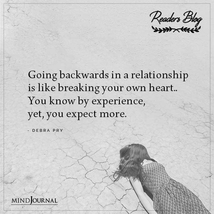 Going Backwards In A Relationship