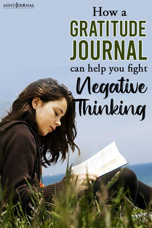 Gratitude Journal Help Fight Negative Thinking pin