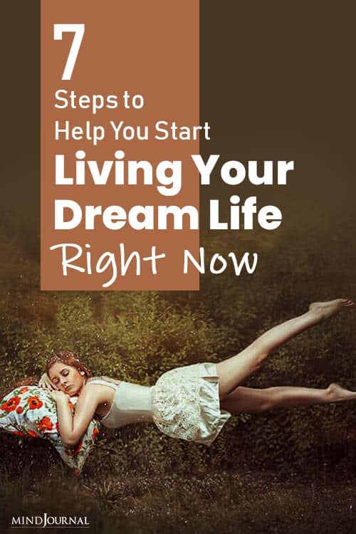 Help Start Living Dream Life Right Now pin